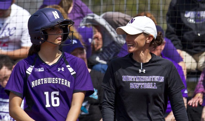 Softball coach Kate Drohan wins 500th game at Northwestern
