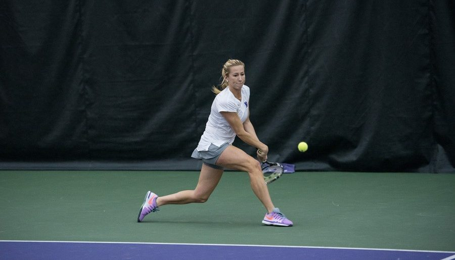 Women's tennis advances to Big Ten Tournament semifinals