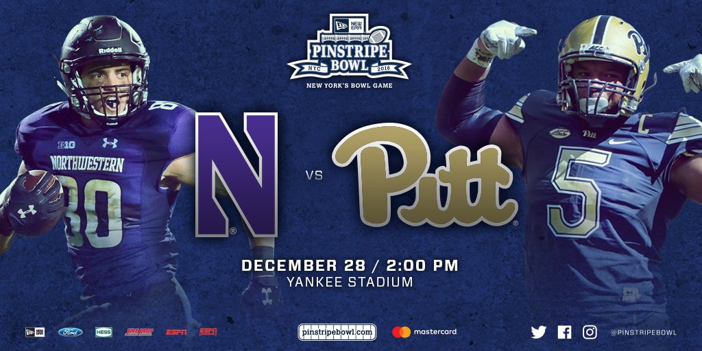 Northwestern to play No. 23 Pittsburgh in Pinstripe Bowl