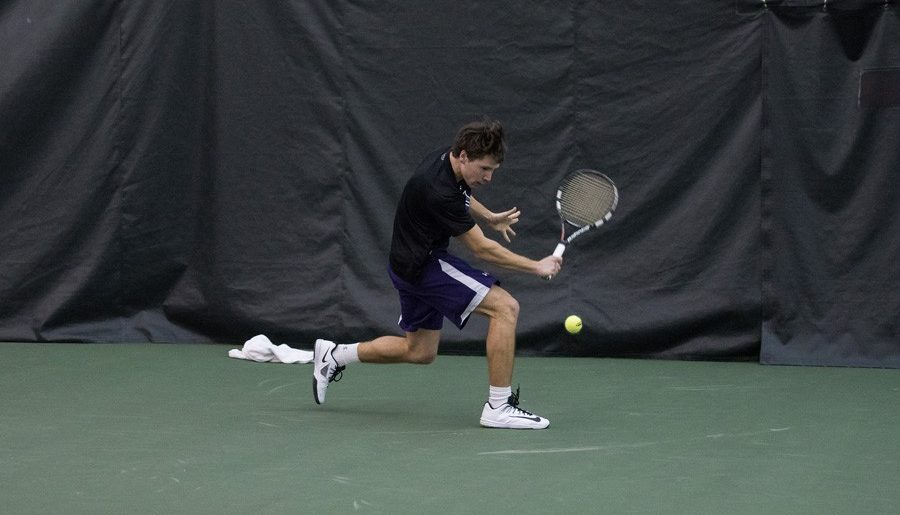 Men's tennis eliminated from Big Ten tournament by in-state rival Illinois
