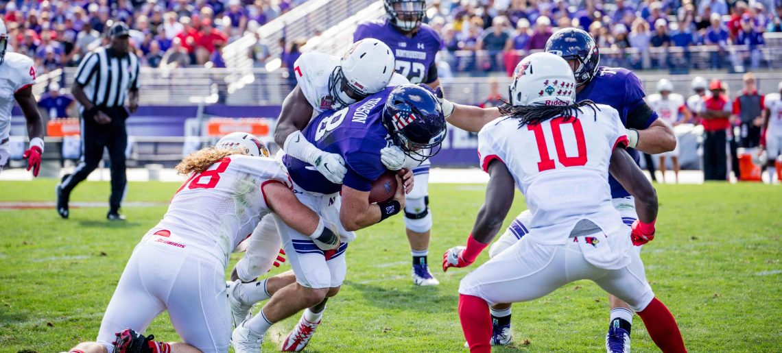 Through the Tape: Northwestern's offensive line comes up short in run-blocking against Redbirds